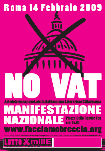 MANIFESTACIN EN ROMA. NO VATICAN