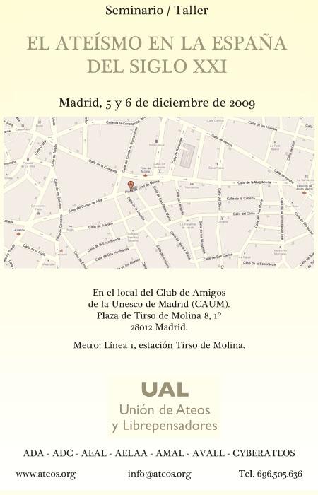Seminario Ateismo en Madrid